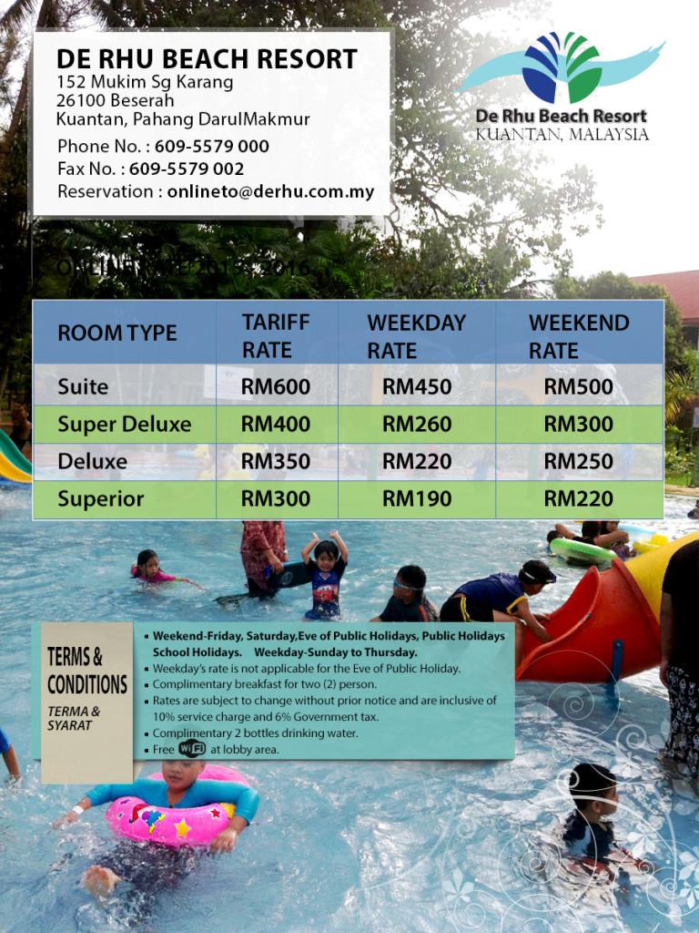 De Rhu Beach Resort Family Day Package