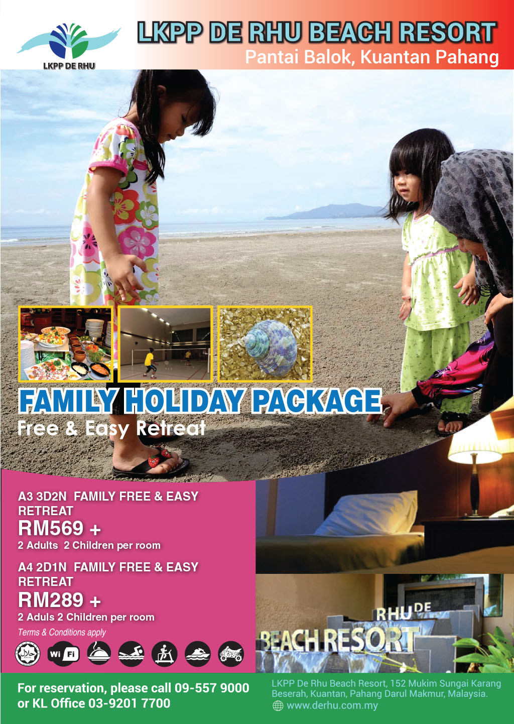 De Rhu Family Holiday Package - Free & Easy Retreat 2016